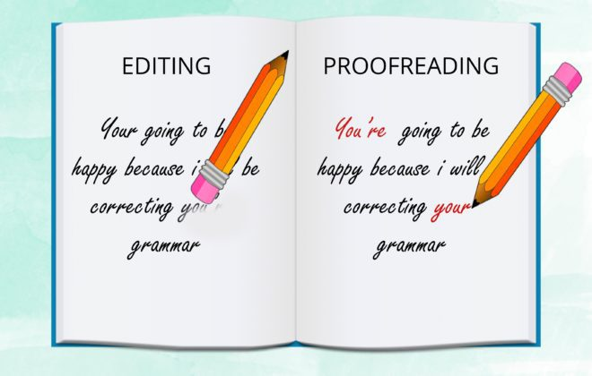 editing and proofreading difference