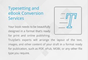 Typesetting and eBook conversion services